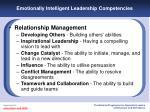 emotionally intelligent leadership competencies20