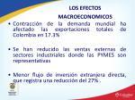 los efectos macroeconomicos