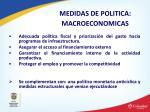 medidas de politica macroeconomicas