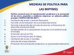 medidas de politica para las mipymes
