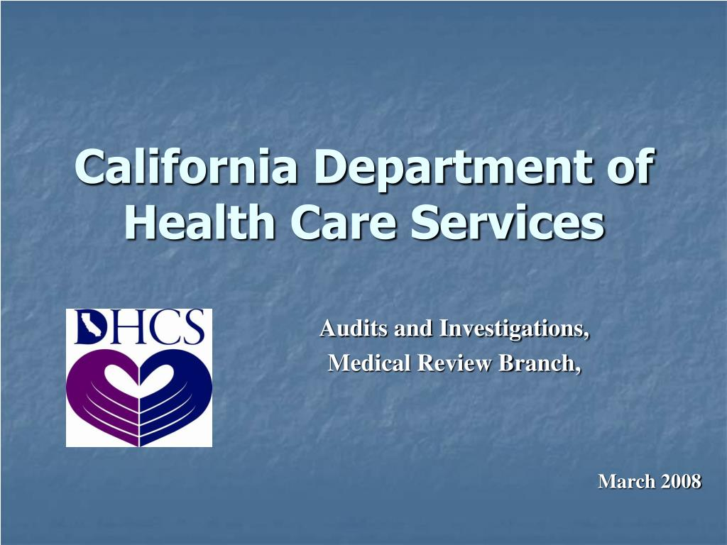 california department of health care services l.