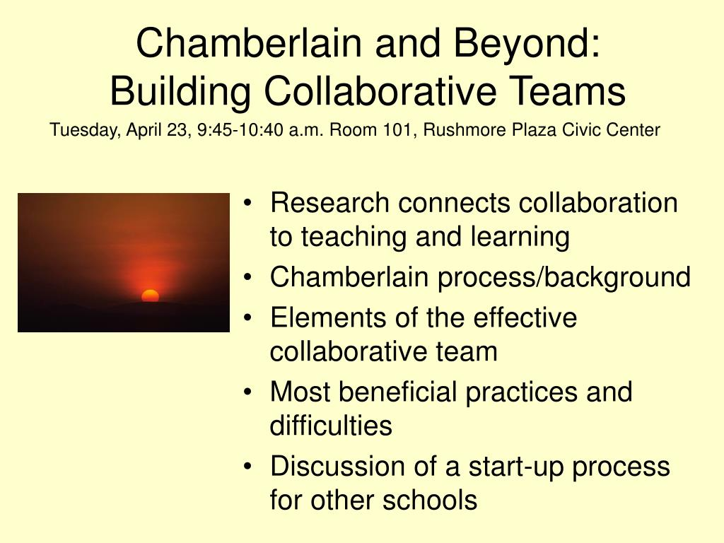ch amberlain and beyond building collaborative teams l.