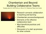 ch amberlain and beyond building collaborative teams