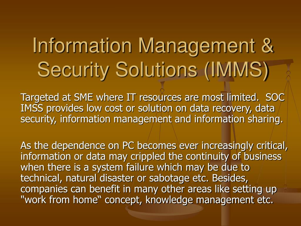 information management security solutions imms l.