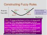 constructing fuzzy rules