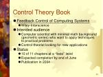 control theory book