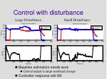control with disturbance