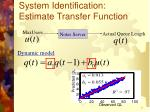 system identification estimate transfer function