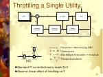 throttling a single utility