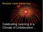 celebrating learning in a climate of collaboration