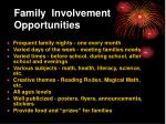 family involvement opportunities