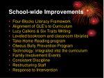 school wide improvements