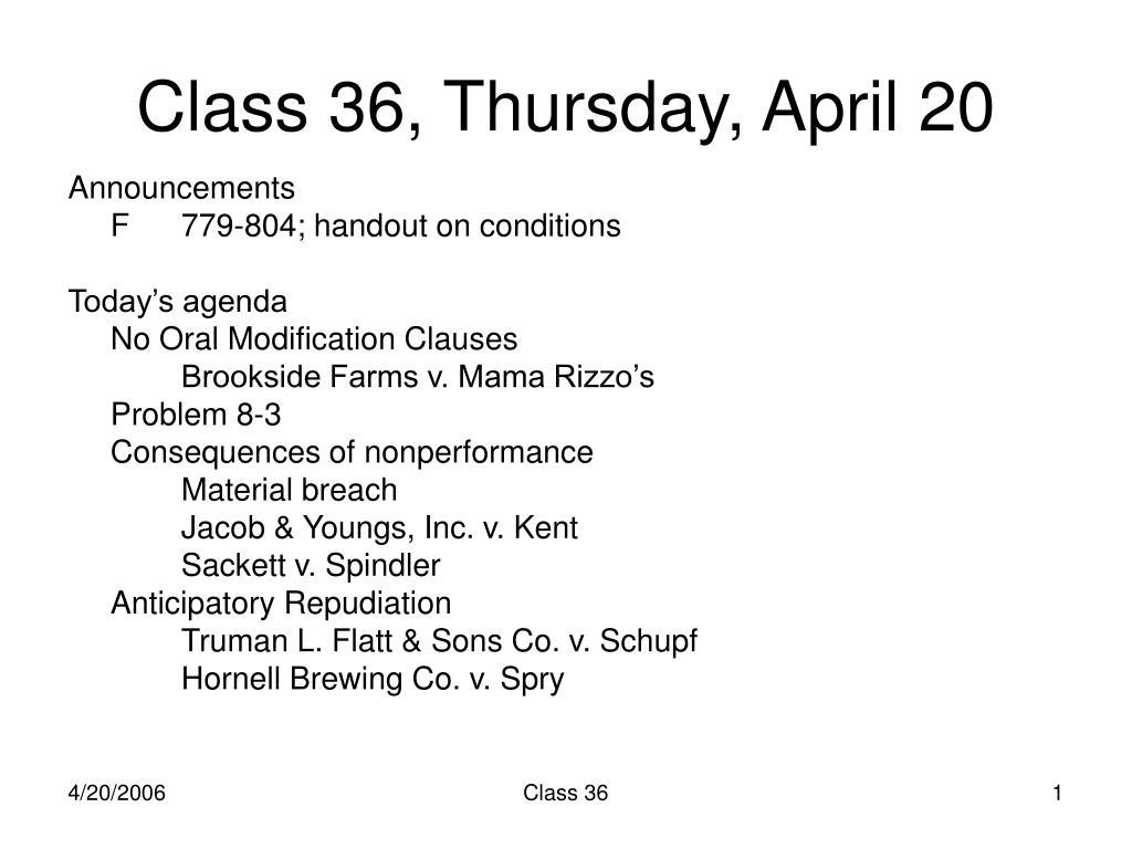 class 36 thursday april 20 l.
