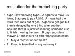 restitution for the breaching party