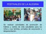 festivales de la alegria