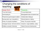changing the conditions of teaching