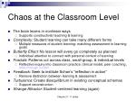 chaos at the classroom level