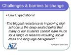 challenges barriers to change