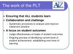 the work of the plt