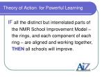 theory of action for powerful learning