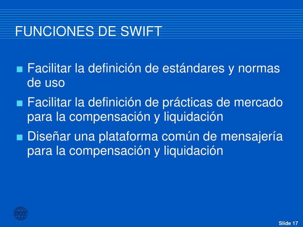 FUNCIONES DE SWIFT