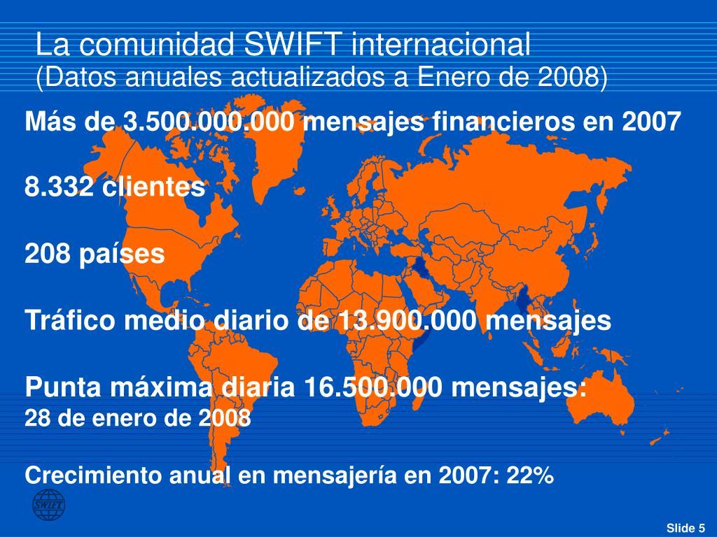 La comunidad SWIFT internacional