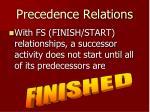 precedence relations
