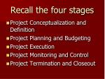 recall the four stages