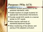 purposes why acs