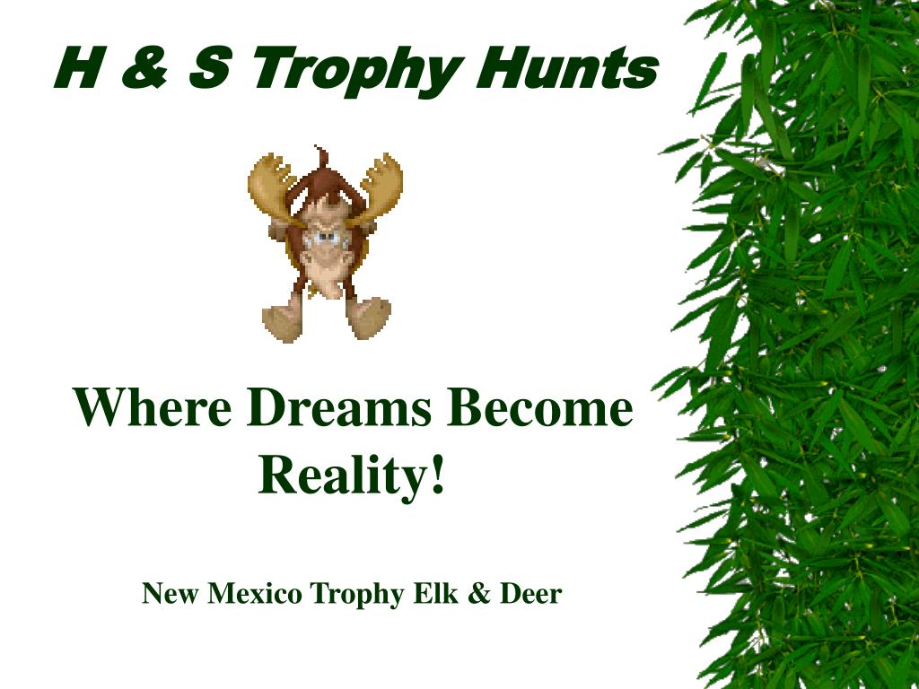 h s trophy hunts where dreams become reality new mexico trophy elk deer l.