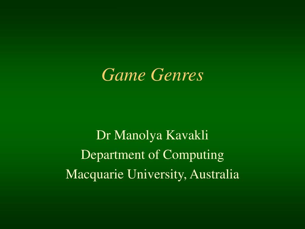 game genres l.