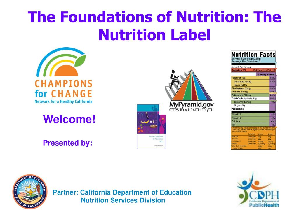 the foundations of nutrition the nutrition label l.