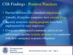 csr findings positive practices