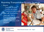 reporting transportation security incidents