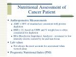 nutritional assessment of cancer patient