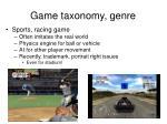 game taxonomy genre10