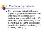 4 the input hypothesis