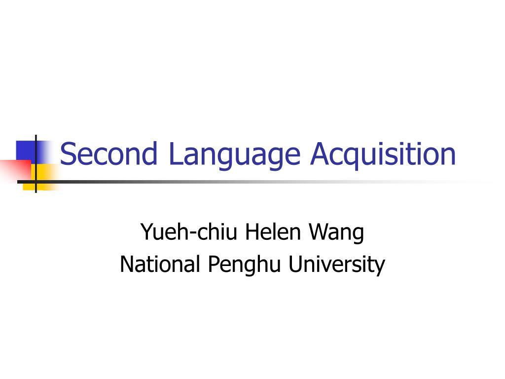 second language acquisition l.