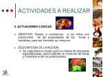 actividades a realizar21