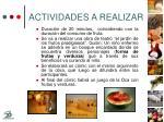 actividades a realizar22
