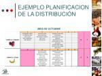 ejemplo planificacion de la distribuci n