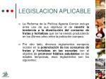 legislacion aplicable