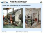 final calorimeter