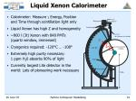 liquid xenon calorimeter