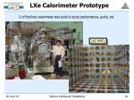 lxe calorimeter prototype