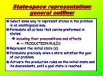 state space representation general outline