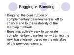 bagging vs boosting
