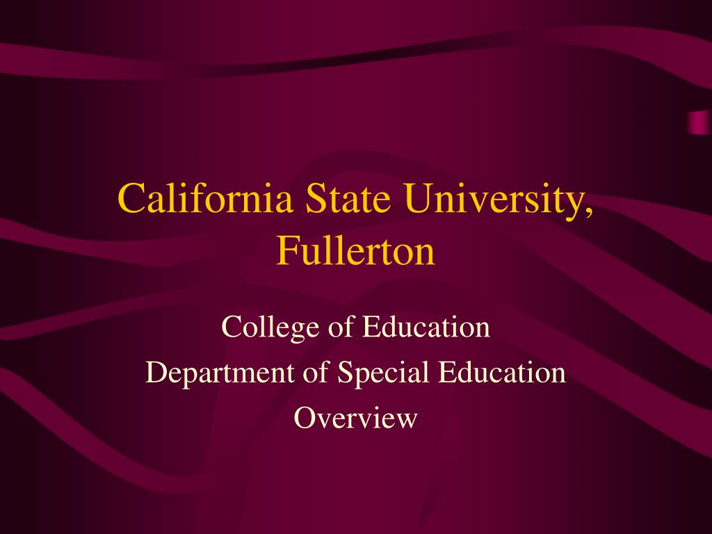 california state university fullerton l.