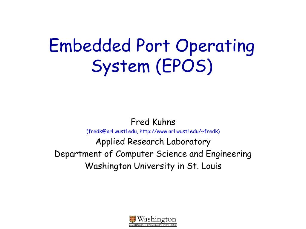 embedded port operating system epos l.
