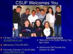 csuf welcomes you